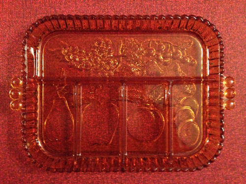 Serving Dish, Colored Glass