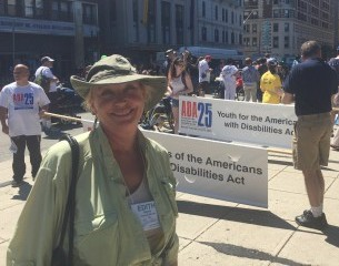Edith Stands with ADA25Boston March