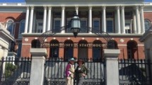 Mary and Edith at the MA State House, Front Steps, 5/11/2016