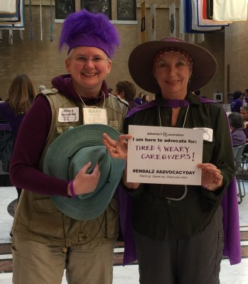 Mary & Edith at the MA State House ALZ Advocacy Day, 5/11/2016