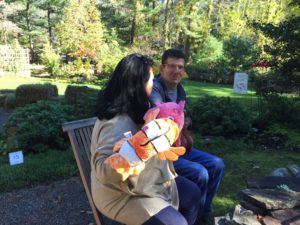 Collette and John Hanlon of Rowley, Fish Tales at Rest.Stop.Ranch in Topsfield MA